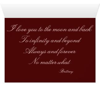 A meu noivo cartão comemorativo