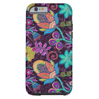 A miçanga de vidro colorida olha o design floral capa para iPhone 6 tough