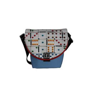 A mini bolsa mensageiro dos dominós (impressão