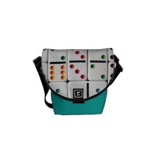 A mini bolsa mensageiro dos dominós (impressão do