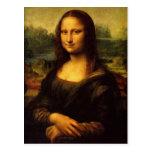 A Mona Lisa por Leonardo da Vinci Cartão Postal
