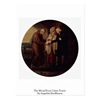 A monge de Calais Tondo por Angelika Kauffmann Cartão Postal