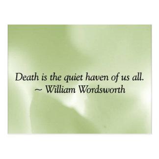 A morte é um abrigo quieto cartão postal