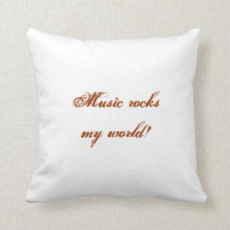 A música balança meu travesseiro do mundo almofada