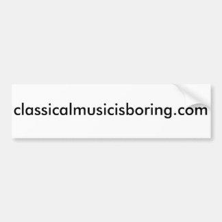 A música clássica é autocolante no vidro traseiro adesivo para carro