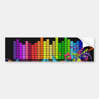 a música colorida nota o equalizador adesivo para carro