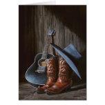 """A música country """"carreg"""" o cartão"""