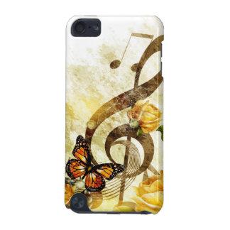 A música da borboleta nota o caso do ipod touch 5G Capa Para iPod Touch 5G