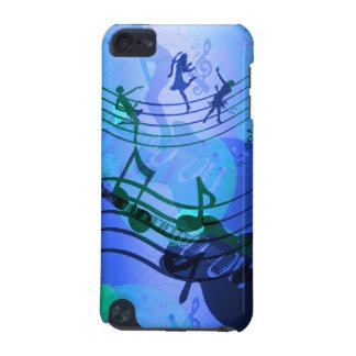 a música do ipod touch nota o branco azul capa para iPod touch 5G