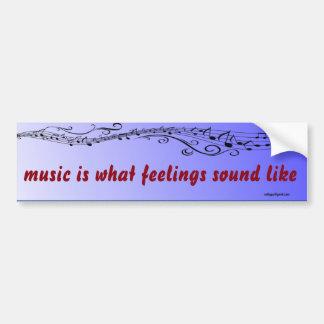 a música é… adesivo para carro