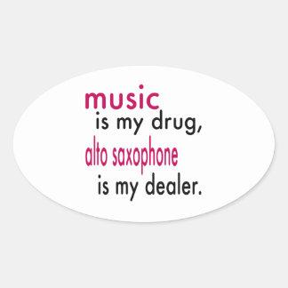 A música é minha droga alto que o saxofone é meu adesivo