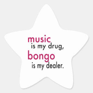 A música é minha droga bongos é meu negociante adesivo
