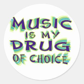 A música é minha droga da escolha adesivo