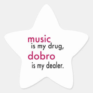 A música é minha droga Dobro é meu negociante Adesivos