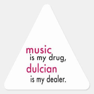 A música é minha droga Dulcian é meu negociante Adesivos Em Forma De Triângulo