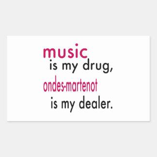 A música é minha droga, Ondes-Martenot é meu Adesivos Em Formato Retangulares