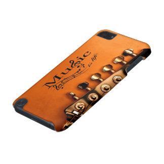 A música é vida com cabeça da máquina da guitarra capa para iPod touch 5G