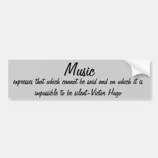 A música expressa… adesivo para carro