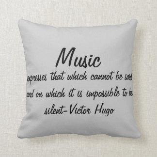 A música expressa… almofada