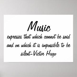 A música expressa… póster