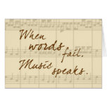 A música fala cartoes
