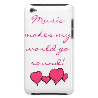 A música faz meu mundo girar capas iPod barely there