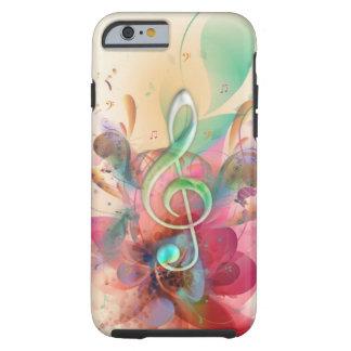 A música legal do clef de triplo dos watercolours capa para iPhone 6 tough