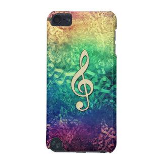 A música louca escura do arco-íris nota a capa do capa para iPod touch 5G