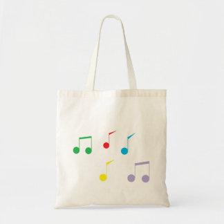 A música nota a sacola sacola tote budget