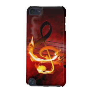 A música quente nota o caso do ipod touch 5G Capa Para iPod Touch 5G