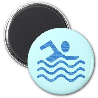 A natação acena ímãs do ímã ímã redondo 5.08cm