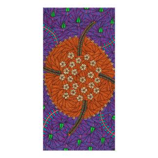 A natureza flutua floral e sae-o cartões com fotos personalizados