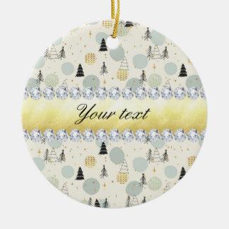 A neve moderna das árvores de Natal Stars Ornamento De Cerâmica