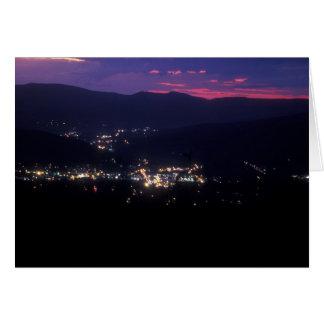 A noite de Berkshire da volta do gancho de cabelo Cartão