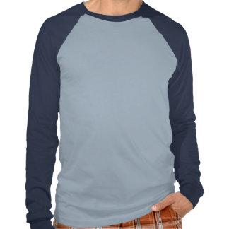 A noite passada para fora (azul) camisetas