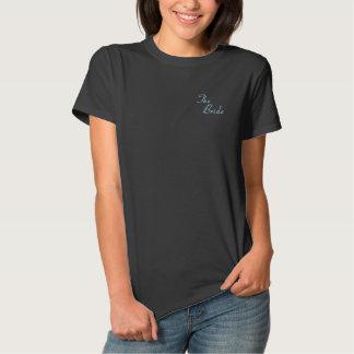 A noiva camiseta polo bordada feminina