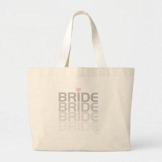 A noiva desvanece-se camiseta e presentes sacola tote jumbo