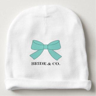 """A """"NOIVA & os CO personalizam o chapéu azul do Gorro Para Bebê"""