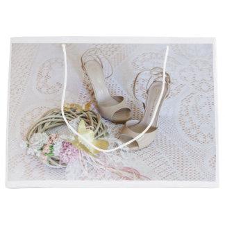 À noiva sacola para presentes grande
