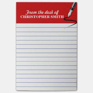 A nota vermelha do Cargo-it® do organizador do Bloquinho De Nota