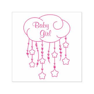 A nuvem perla o bebé do móbil das estrelas carimbo auto entintado