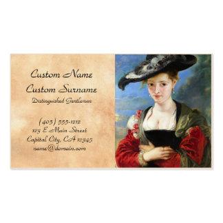 A obra-prima de Peter Paul Rubens do chapéu de Cartão De Visita