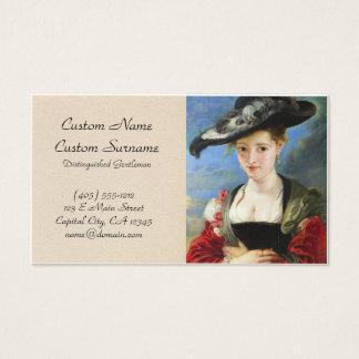 A obra-prima de Peter Paul Rubens do chapéu de Cartão De Visitas