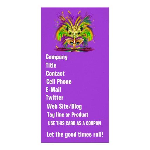 A opinião da rainha do carnaval nota por favor cartão com foto personalizado