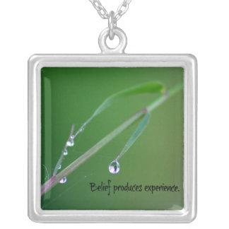 A opinião produz o bambu da experiência colar banhado a prata