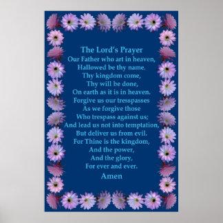A Oração do senhor em um quadro do cacto de Nightb Impressão