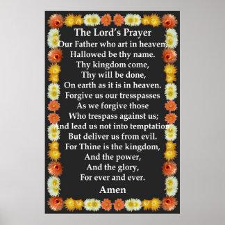 A Oração do senhor em um quadro do cacto de tambor Posteres