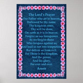 A Oração do senhor em um quadro do cacto do Pincus Impressão