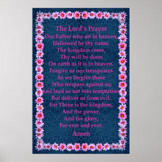 A Oração do senhor em um quadro do cacto do Pincus Posters