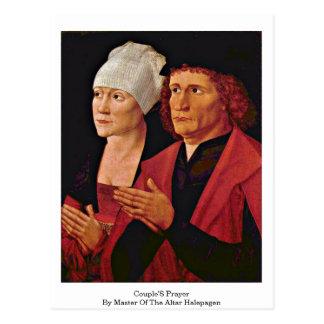 A oração dos casais pelo mestre do altar Halepagen Cartão Postal